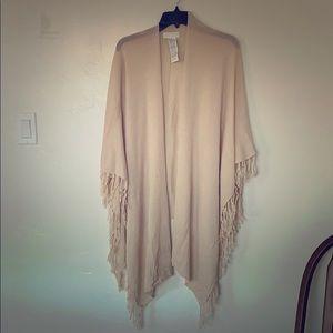 Forever 21 Cream kimono shawl